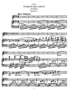 Радость и горе, S.280: Версия I by Франц Лист