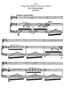 Три песни из 'Вильгельма Телля', S.292: Сборник by Франц Лист