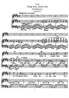 Kling leise mein Lied, S.301: Version I by Франц Лист