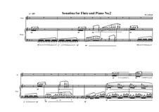 3 Sonatinas for Flute and Piano: Сонатина No.2, MVWV 535 by Maurice Verheul