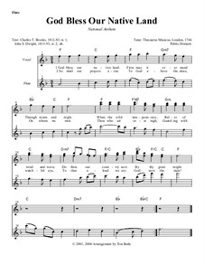 God Bless Our Native Land: Instrument parts by Unknown (works before 1850)