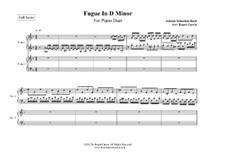 Токката и фуга ре минор, BWV 565: Fugue, for two pianos by Иоганн Себастьян Бах