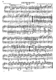 Четыре экспромта для фортепиано, D.935 Op.142: Экспромт No.2 by Франц Шуберт