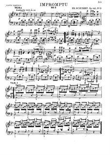 Четыре экспромта для фортепиано, D.935 Op.142: Экспромт No.3 (с аппликатурой) by Франц Шуберт