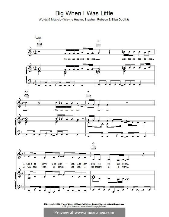 Big When I Was Little: Для голоса и фортепиано (или гитары) by Steve Robson, Wayne Anthony Hector, Eliza Doolittle