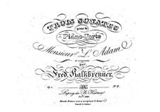Три фортепианные сонаты, Op.1: Соната No.2 by Фридрих Калькбреннер