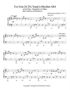 144 Variations on Fur Elise: For Erin. 24 Selected Variations of 144 by Richard Byron Strunk