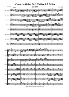 Concerto for Two Violins and Two Cellos in G Major, RV 575: Concerto for Two Violins and Two Cellos in G Major by Антонио Вивальди