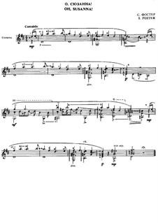 О, Сюзанна: Для гитары by Стефен Фостер