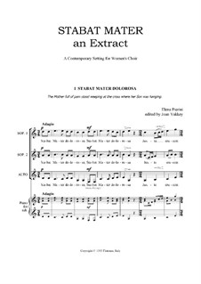 Stabat Mater (an extract) for Women's Voices: Stabat Mater (an extract) for Women's Voices by Elena Pierini