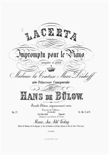 Lacerta. Impromptu, Op.27: Для фортепиано by Ганс фон Бюлов