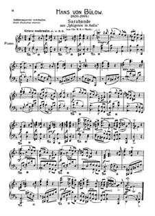 Ифигения в Авлиде, Wq.40: Сарабанда, для фортепиано by Кристоф Виллибальд Глюк