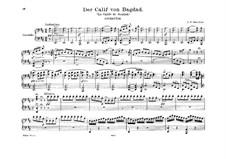 Калиф Багдадский: Увертюра ре мажор, для фортепиано в четыре руки by Адриен Буальдье
