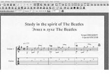 Этюд в духе The Beatles: Этюд в духе The Beatles by Сергей Орехов