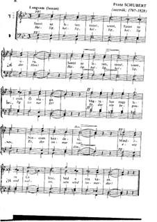 Heilig, heilig, D.872 No.5: Для смешанного хора by Франц Шуберт
