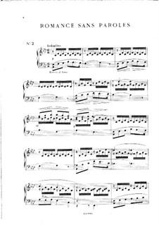 Пять пьес: No.2 Романс без слов, Op.29 by Мел Бонис
