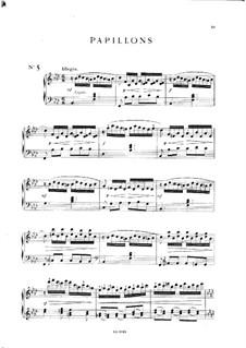 Пять пьес: No.5 Бабочки, Op.28 by Мел Бонис