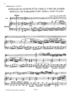 Соната для альта и фортепиано си-бемоль мажор: Соната для альта и фортепиано си-бемоль мажор by Карл Стамиц