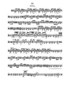 Quick Suite, Op.18: No.3 Halling, for solo viola by Dov Rosenschein