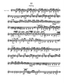 Quick Suite, Op.18: No.3 Halling, for solo violin by Dov Rosenschein