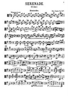Серенада для флейты, скрипки и альта соль мажор, Op.141a: Партия альта by Макс Регер