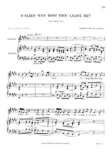 Семела, HWV 58: O, sleep, why dost thou leave me by Георг Фридрих Гендель