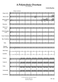 A Polytechnic Overture for orchestra, B39: A Polytechnic Overture for orchestra by Colin Bayliss
