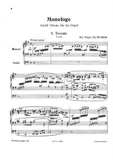 Монологи для органа, Op.63: Монологи No.9-12 by Макс Регер
