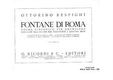 Фонтаны Рима: Для фортепиано в 4 руки by Отторино Респиги