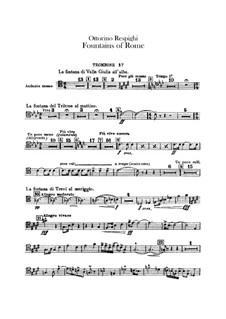 Фонтаны Рима: Партии тромбонов и тубы by Отторино Респиги