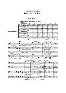 Фонтаны Рима: Партия виолончелей by Отторино Респиги