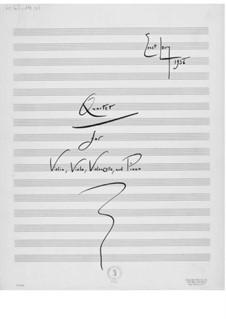 Квартет для скрипки, альта, виолончели и фортепиано: Партитура by Эрнст Леви