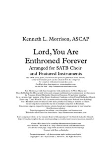 Lord, You Are Enthroned Forever: Lord, You Are Enthroned Forever by Ken Morrison