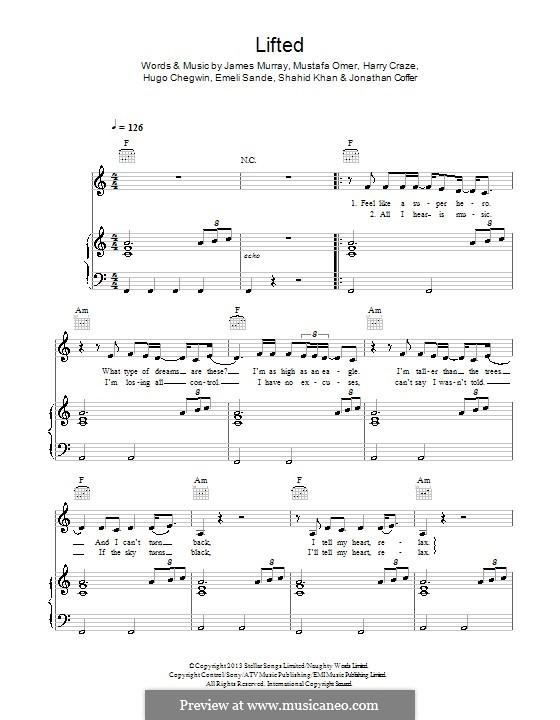 Lifted: Для голоса и фортепиано (или гитары) by Emeli Sandé, Harry Craze, Hugo Chegwin, Mustafa Omer, Shahid Khan, Jonathan Coffer, James Murray