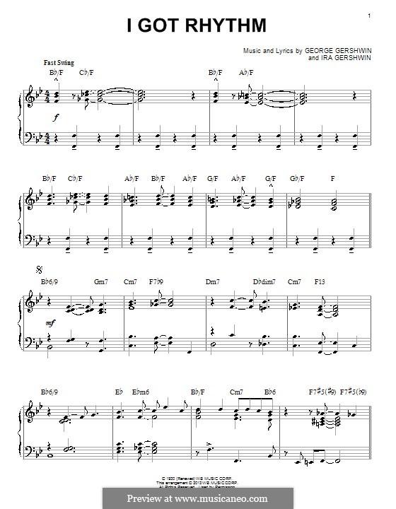 I Got Rhythm: Для фортепиано (jazz version) by Джордж Гершвин
