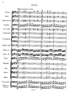 Месса No.5 ля-бемоль мажор, D.678: Gloria by Франц Шуберт