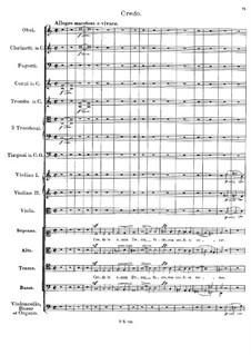 Месса No.5 ля-бемоль мажор, D.678: Credo by Франц Шуберт
