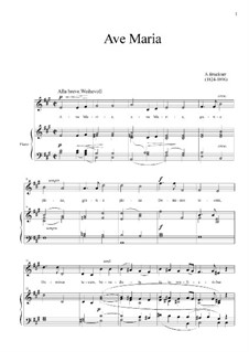 Аве Мария, WAB 7: For mezzo-soprano and piano by Антон Брукнер