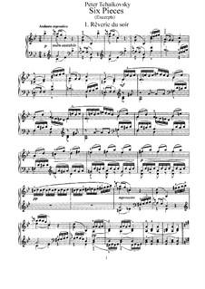 Шесть пьес для фортепиано, TH 133 Op.19: Сборник by Петр Чайковский