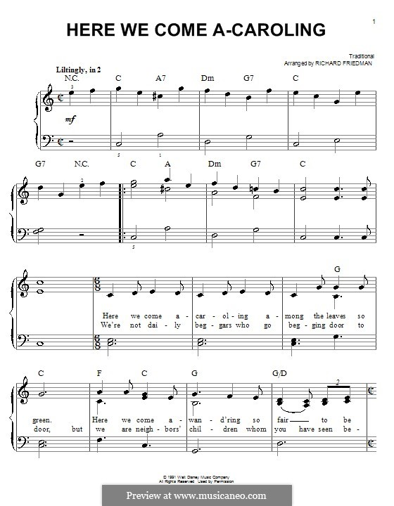 Here we Come a-Caroling: Для фортепиано by folklore