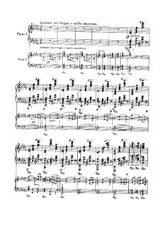 Концерт для фортепиано с оркестром No.1 си-бемоль минор, TH 55 Op.23: Часть I, для двух фортепиано by Петр Чайковский