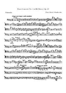 Концерт для фортепиано с оркестром No.1 си-бемоль минор, TH 55 Op.23: Партия виолончелей by Петр Чайковский