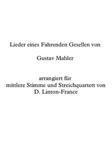 Песни странствующего подмастерья: Партитура, партии by Густав Малер