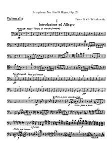 Симфония No.3 ре мажор 'Польская', TH 26 Op.29: Партия виолончелей by Петр Чайковский