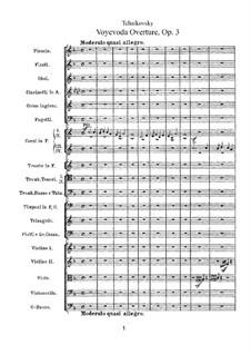 Воевода, TH 1 Op.3: Увертюра by Петр Чайковский