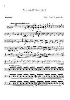 Воевода, TH 1 Op.3: Увертюра – партия виолончелей by Петр Чайковский
