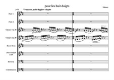 Этюды, L.136: No.6 Pour les huit doigts, for eight woodwind by Клод Дебюсси