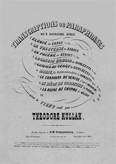 Transcriptions ou Paraphrases, Op.9: No.6 Reminiscences de 'Marie, la fille du régiment' de Donizetti by Теодор Куллак