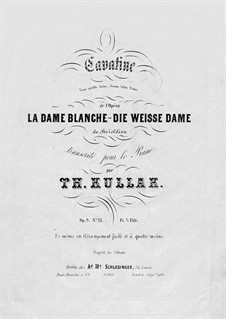 Transcriptions ou Paraphrases, Op.9: No.11 Cavatine 'Viens gentille dame' de l'Opéra 'La Dame Blanche' de Boieldieu by Теодор Куллак