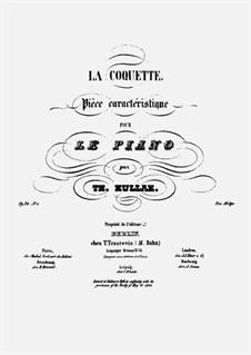Portefeuille de Musique No.1. La Coquette. Pièce caractéristique, Op.20 No.1: Portefeuille de Musique No.1. La Coquette. Pièce caractéristique by Теодор Куллак